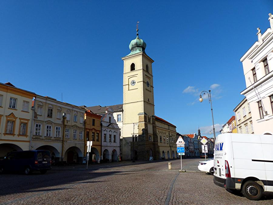 Litomysl - Market Square with City Tower