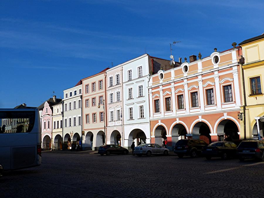 Litomysl - Marketplace - Houses with arcades