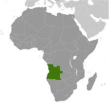 Angola in Africa