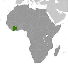 Cote d Ivoire in Africa