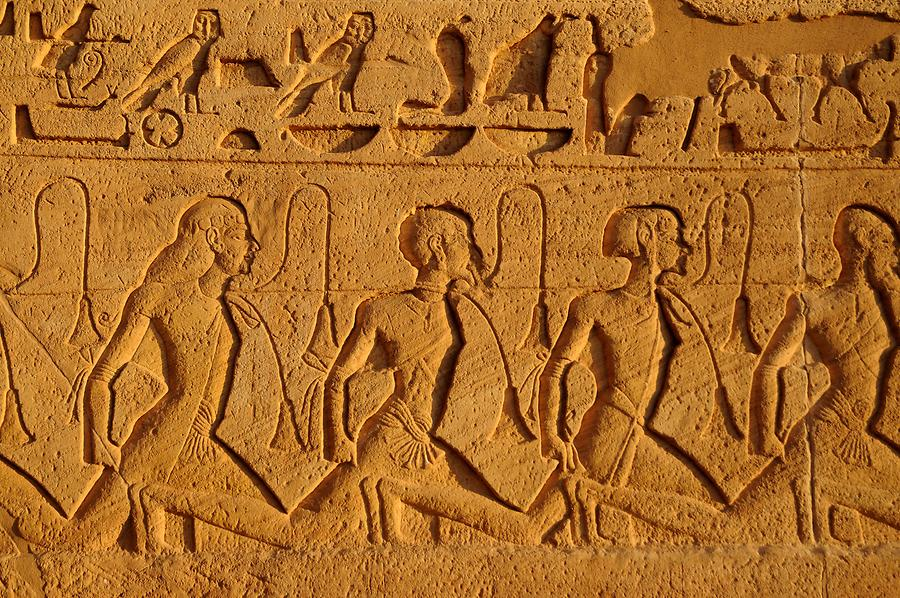 Abu Simbel - Great Temple; Relief, Nubian Prisoners