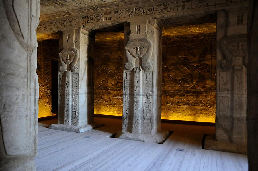 Abu Simbel - Temple of Hathor; Inside