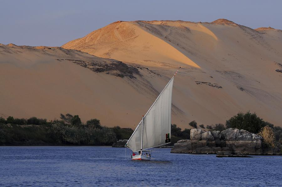Nile Cataract near Aswan - Felucca