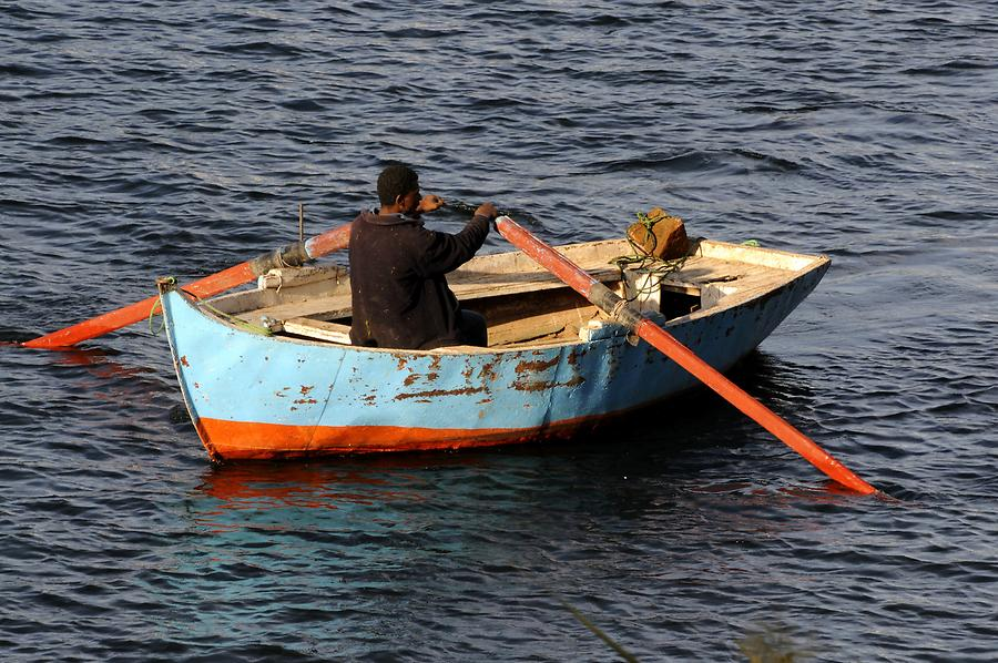Nile Cataract near Aswan - Small Boat