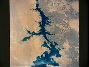 Nile River in Lake Nasser