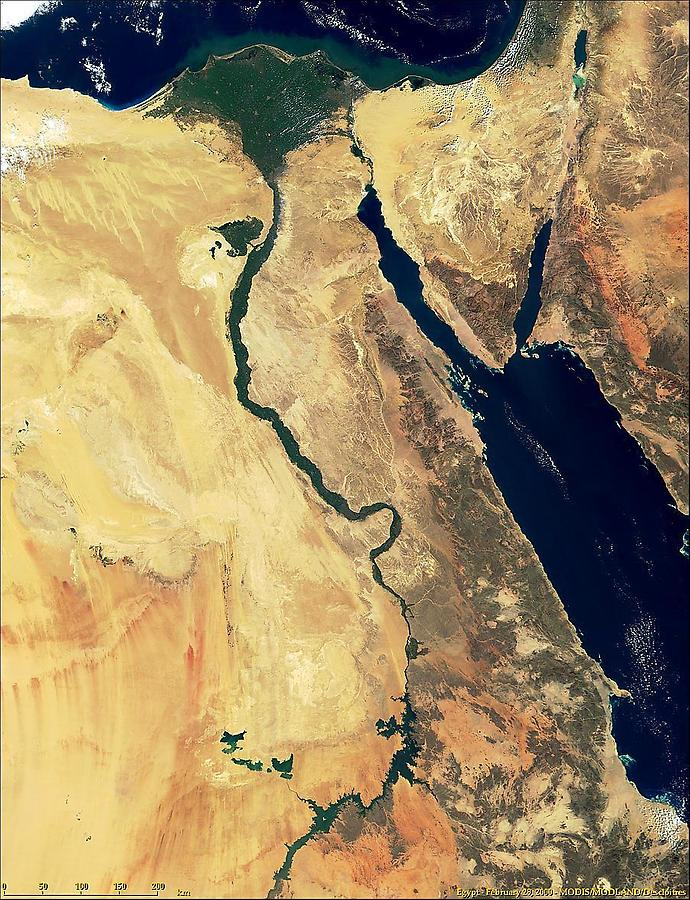 Satellite Image, Egypt