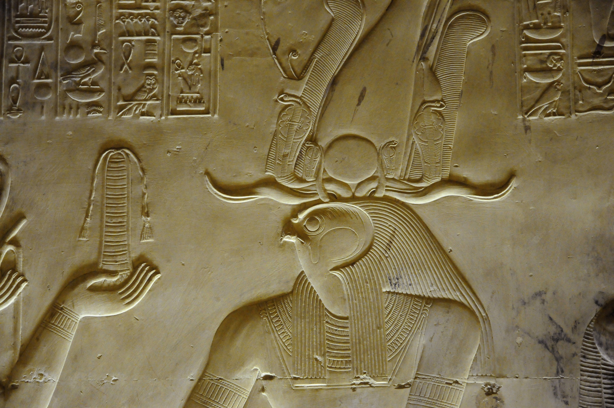 Horus Relief, Temple of Abydos | Gizeh Luxor | Pictures | Egypt in ...