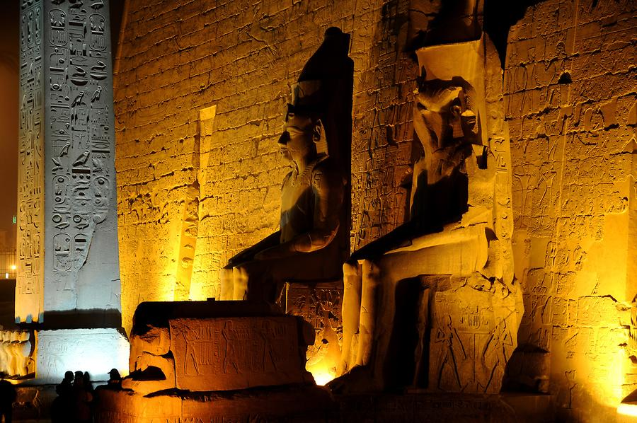 Luxor Temple Complex at Night