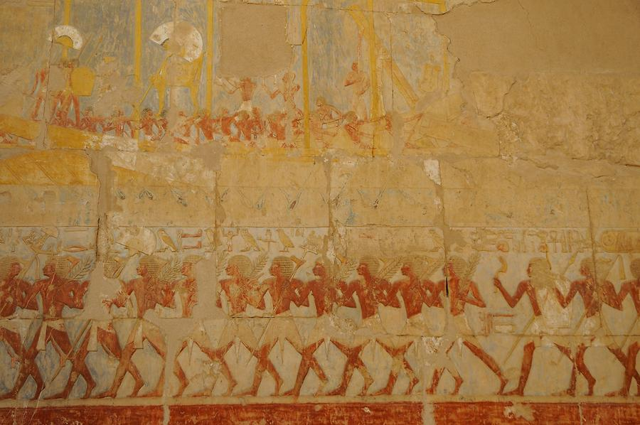 Mortuary Temple of Hatshepsut - Expedition to the Land of Punt