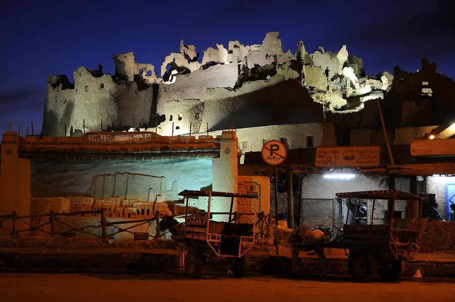 Siwa Oasis - Ruins of Shali at Night