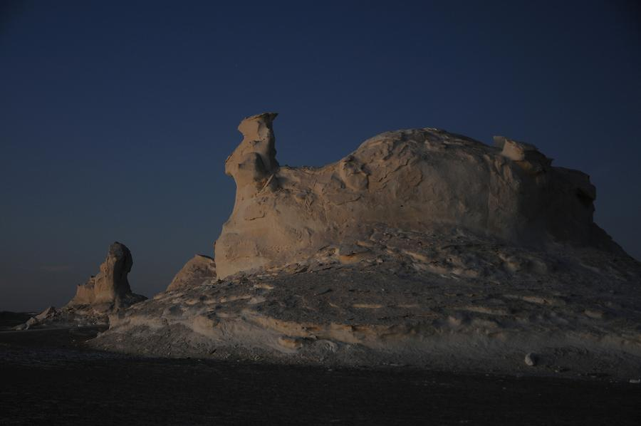 White Desert at Sunset