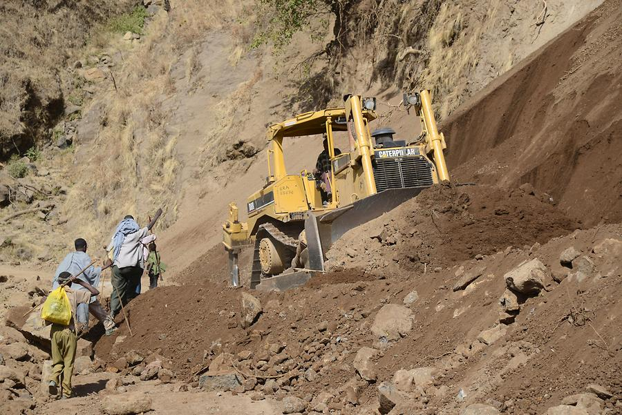 Simien Mountains - Road Works
