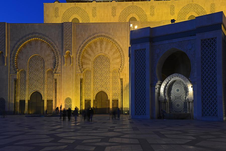 Hassan II Mosque at Night