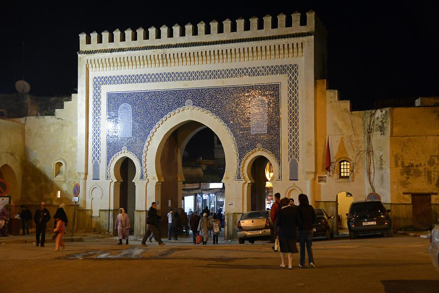 Fes - Bab Boujeloud at Night