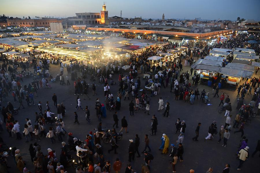 Marrakech - Djemaa el-Fnaa at Night