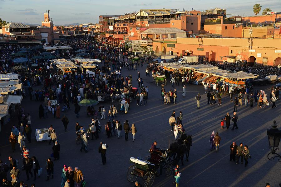 Marrakech - Djemaa el-Fnaa at Sunset