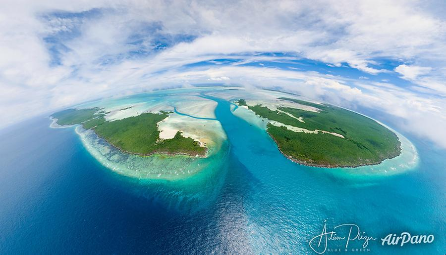 Polymnie, Grande Passe, Île Picard, Aldabra atoll, © AirPano