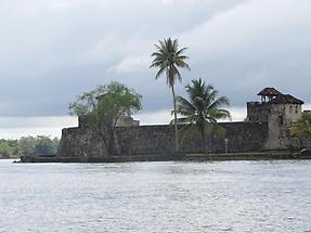 The Castillo seen from Lake Izabal
