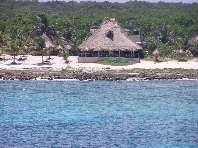 Beach resort at Costa Maya