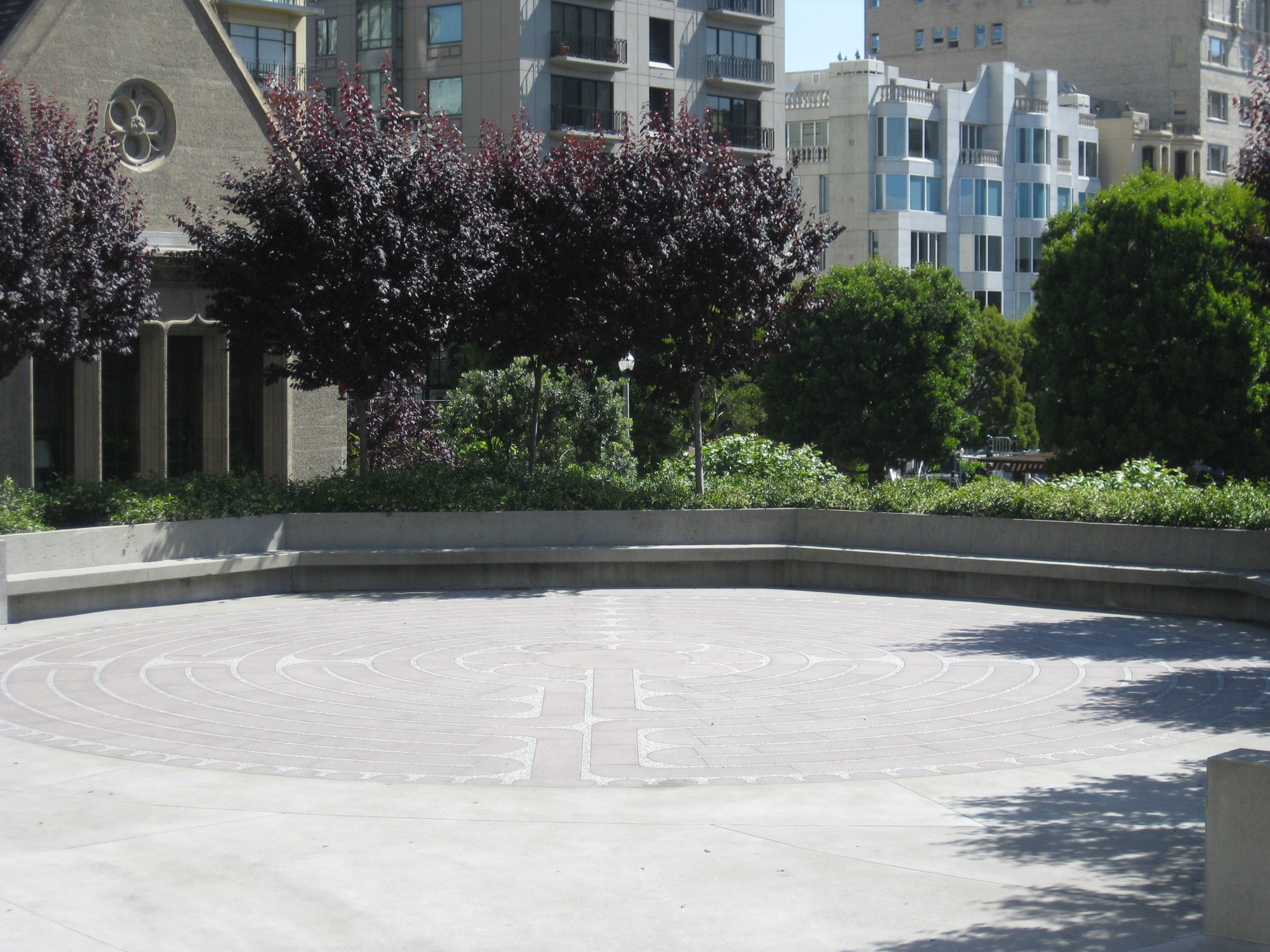 San Francisco Grace Cathedral Outdoor Labyrinth | California