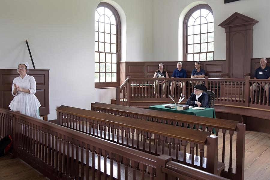 Colonial Williamsburg - Courthouse; 'Trial'