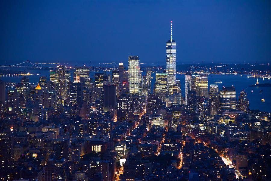 Empire State Building - Panoramic View of Midtown Manhattan