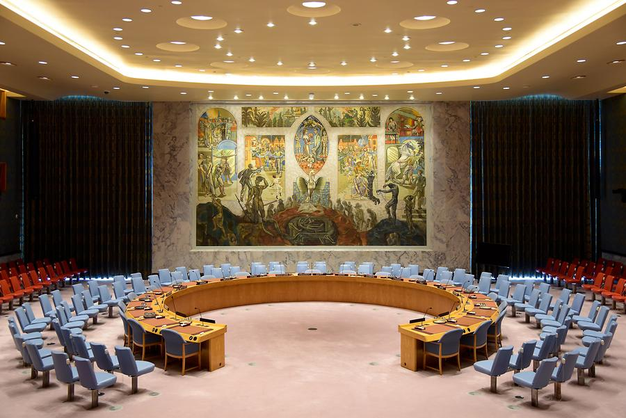 Headquarters of the United Nations - UN Security Council Chamber