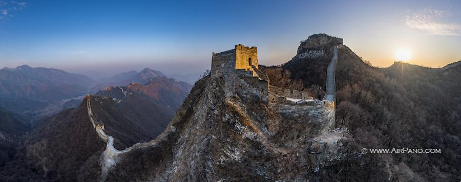 Great Wall of China. Tower at the top of the Sky Stair, © AirPano