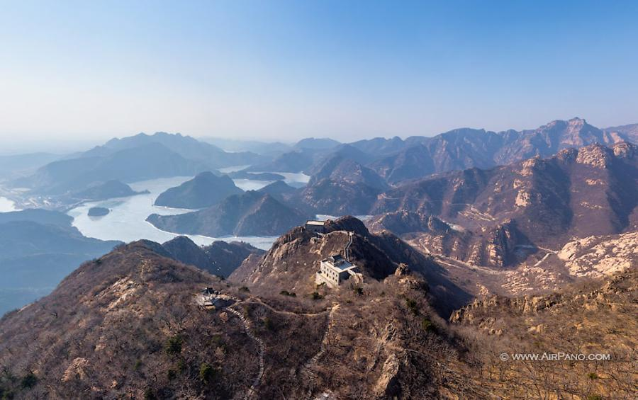 Above the temples at the Jiaoshan Wall, © AirPano