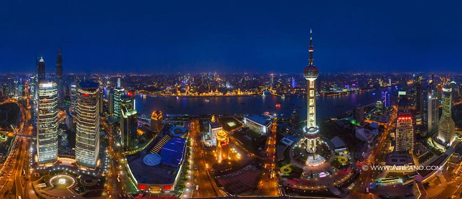 Shanghai, China. The most populous city in the world, © AirPano