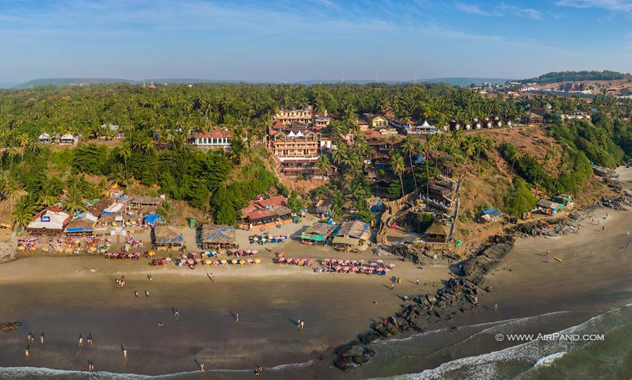 Vazran (Small Vagator) Beach. Northern Goa, India, © AirPano