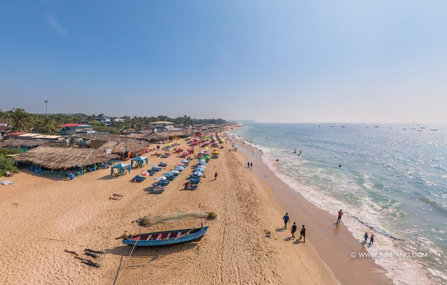 Calangute Beach. Northern Goa, India, © AirPano