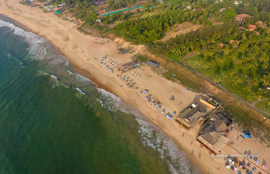 Sinquerim Beach. Northern Goa, India, © AirPano