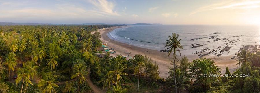 Morjim Beach. North Goa, India, © AirPano