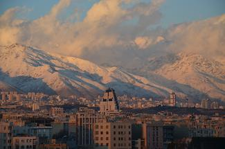 Tehran view from Shahrak-e Ekbatan