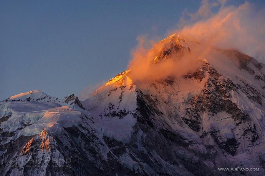 Everest at sunset
