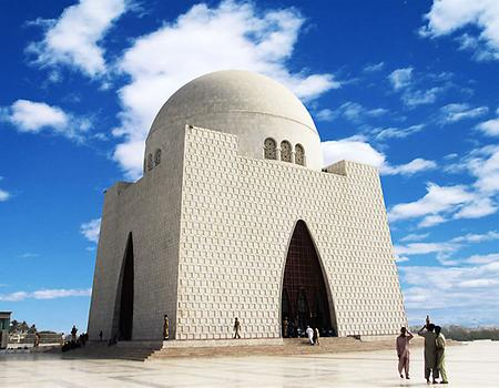 Mausoleum of Jinnah, Photo: M.Irfan, from Wikicommons