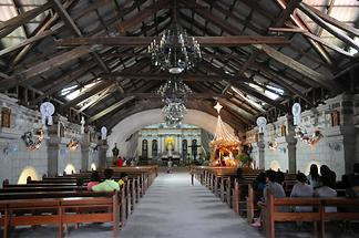 Inside the church of Bacolor