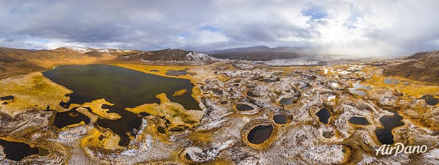 Djangyskol Lake, Yoshtykel area, © AirPano