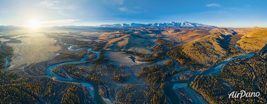 Kuray steppe. Chuya River, © AirPano