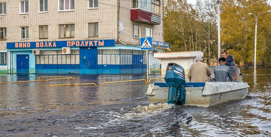 Flooding in Amur River, Russia