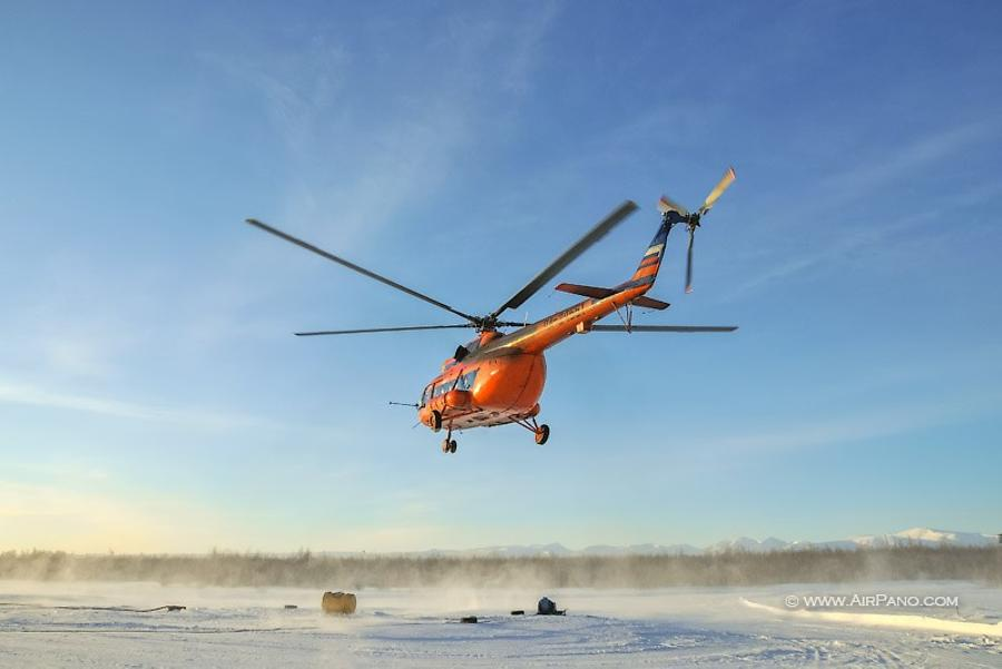 Helicopter on Kamchatka