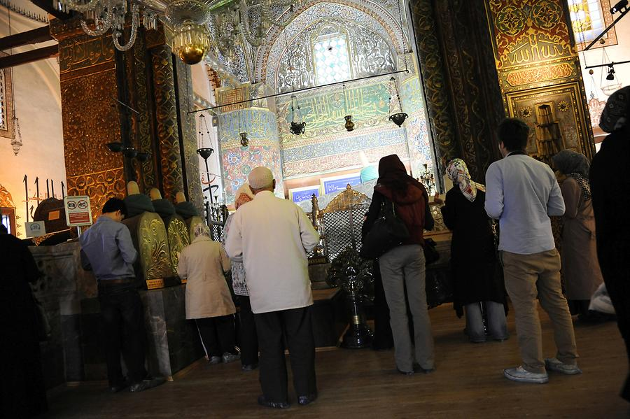 The Interior of the Monastery of Mevlana