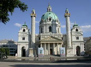 Charles Cathedral in Vienna