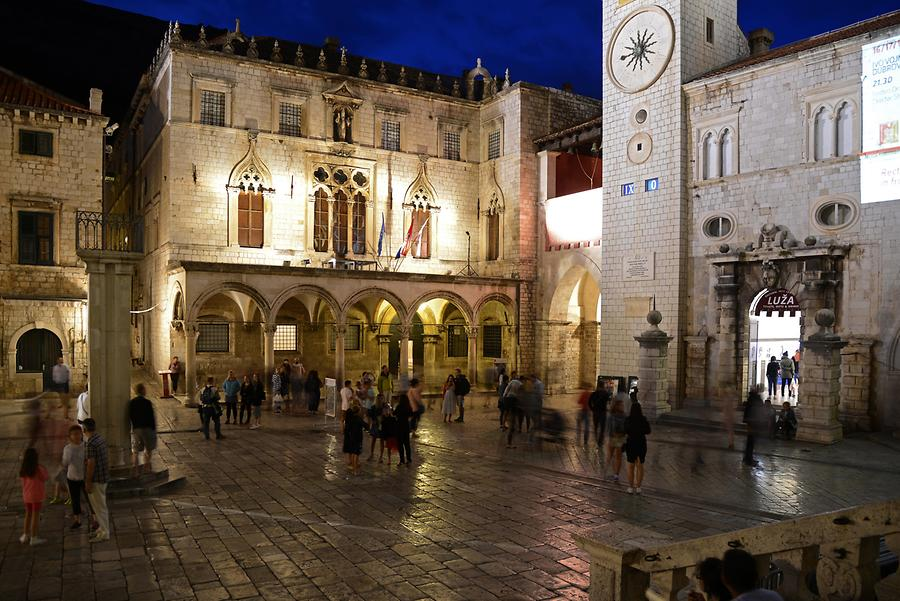 Sponza Palace at Night