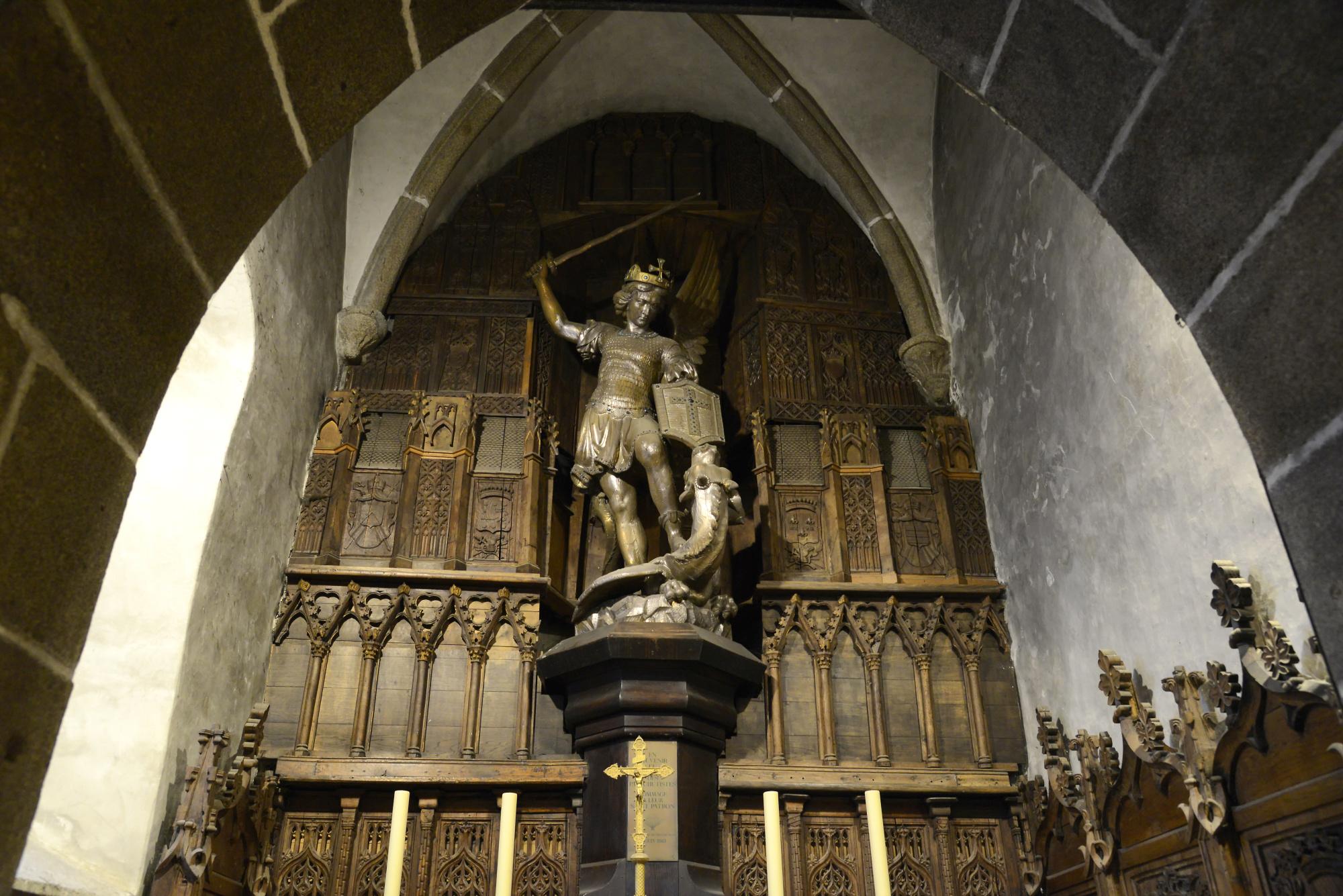 Mont St Michel Abbey Inside 1 Mont Saint Michel Pictures