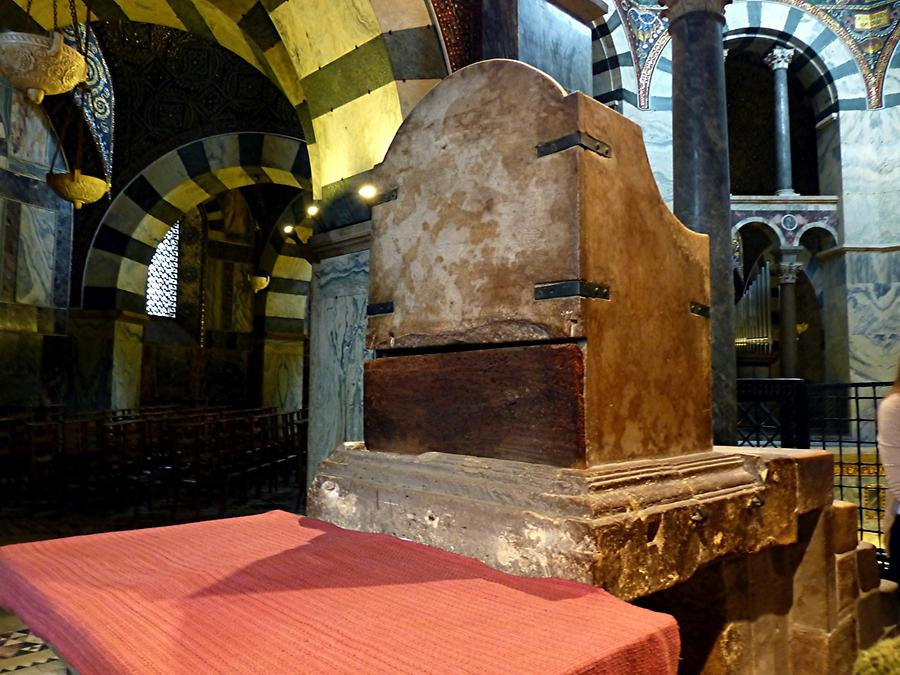 Aachen - Cathedral; Throne of Charlemagne