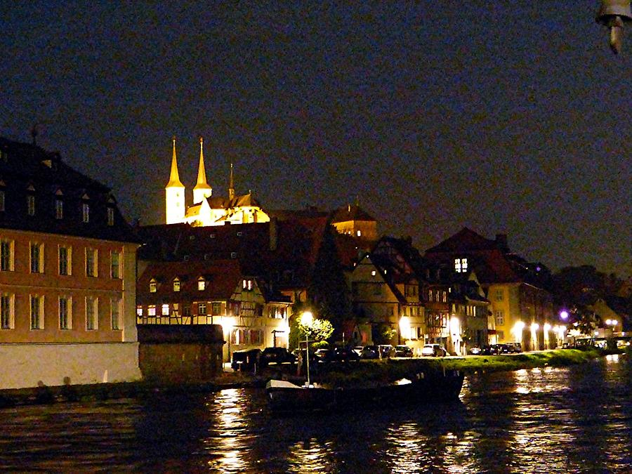 Bamberg - Evening on river Regnitz