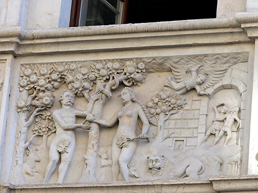 Görlitz - Biblisches Haus; Adam and Eve