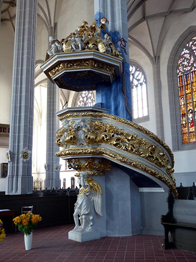Görlitz - St. Peter and St. Paul's Church; Pulpit (1693)
